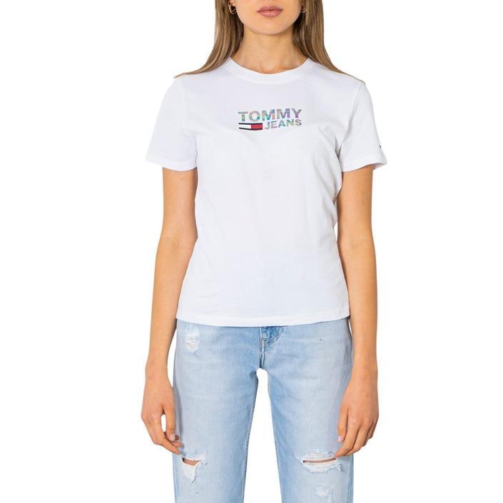 Tommy Hilfiger Jeans Women's T-Shirt White 298811 - white XXS