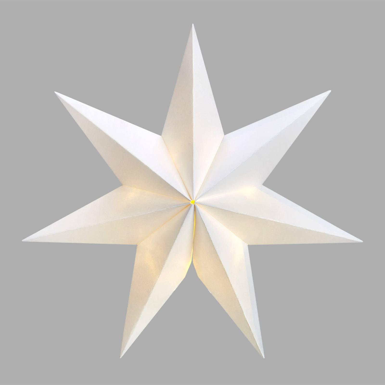 Syvtakket LED-stjerne Malva med suge