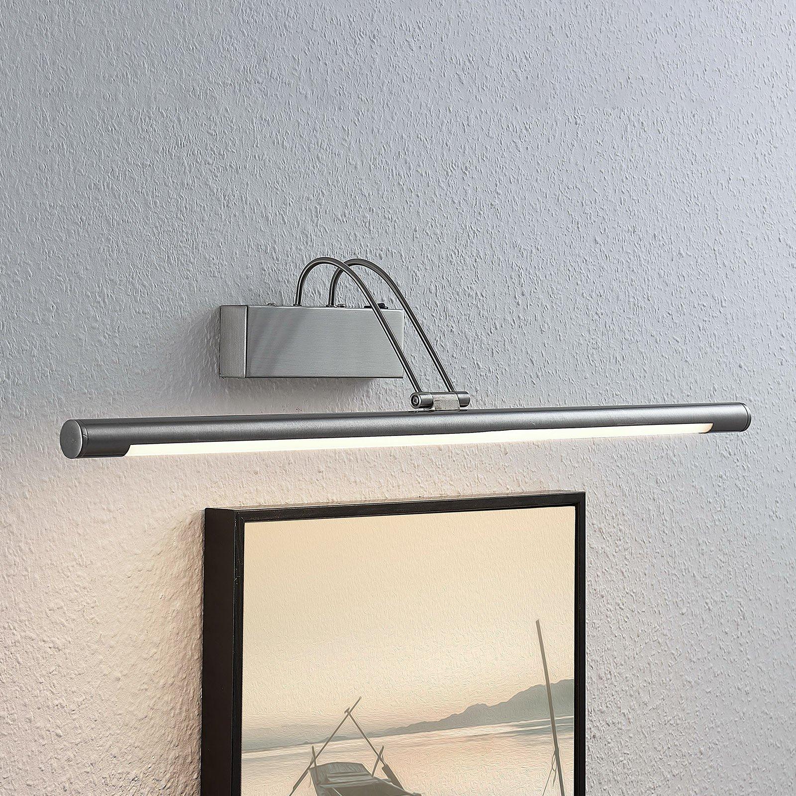 LED-bildelampe Mailine med bryter, nikkel