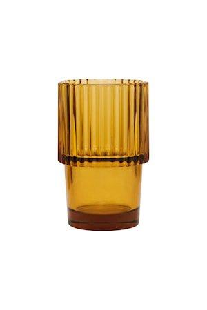 Rills Glass Amber Brun 4 stk.
