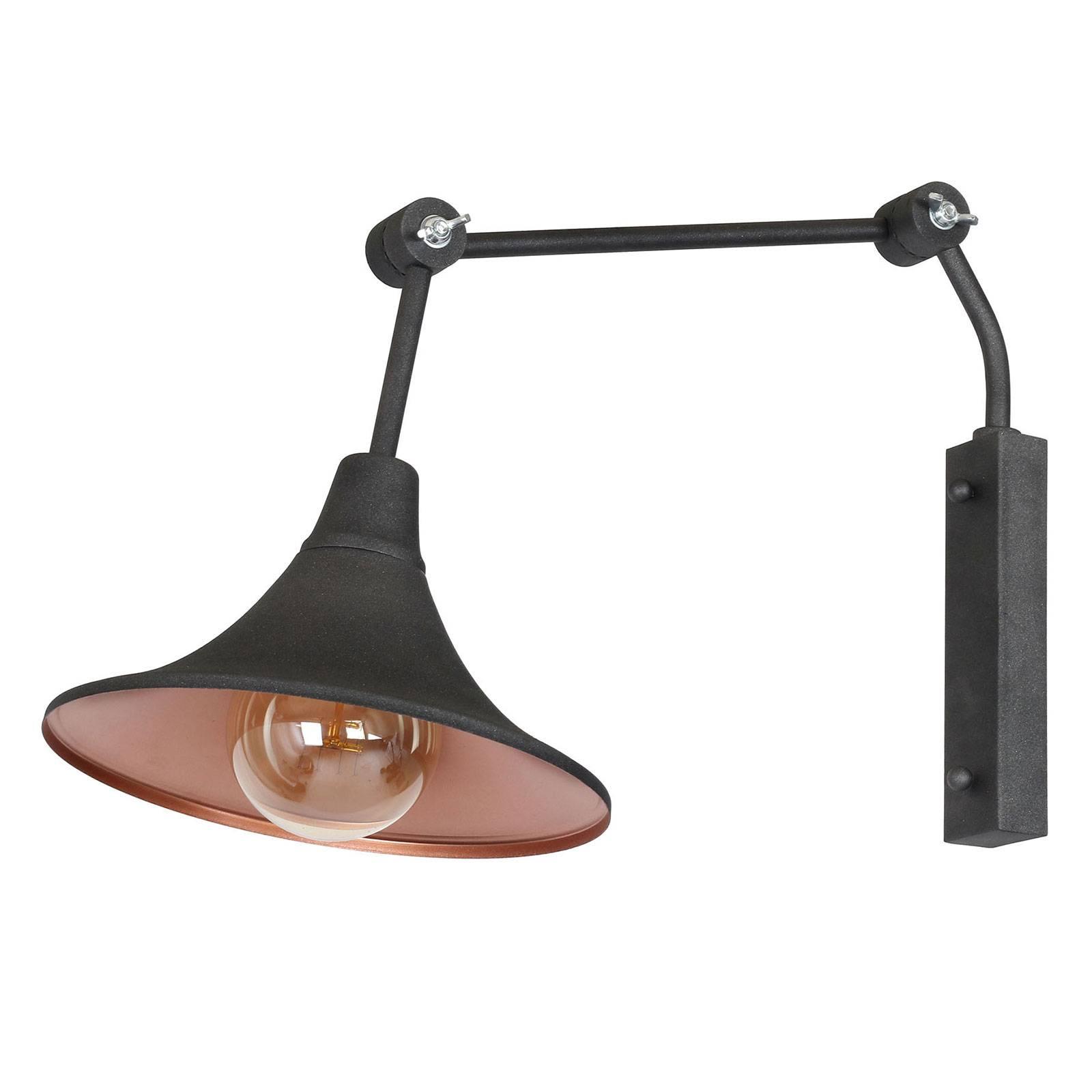 Seinävalaisin 785, 1-lamppuinen, grafiitti/kupari
