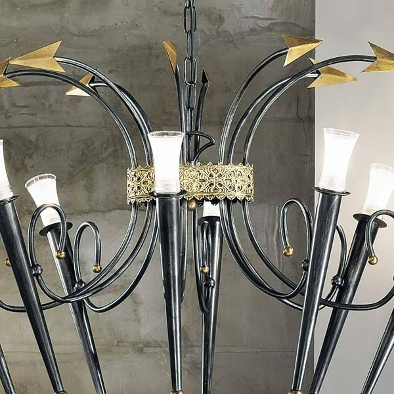 IMPERO-kattokruunu, 8 lamppua ovaali