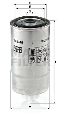Polttoainesuodatin MANN-FILTER WK 854/5