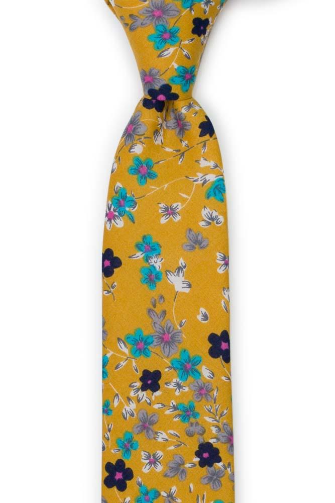 Bomull Smale Slips, Hvite, grå, turkise blomster på honning, Gull, Blomster