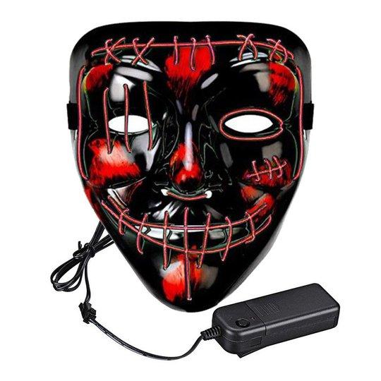El Wire Purge 2 LED Mask - Röd