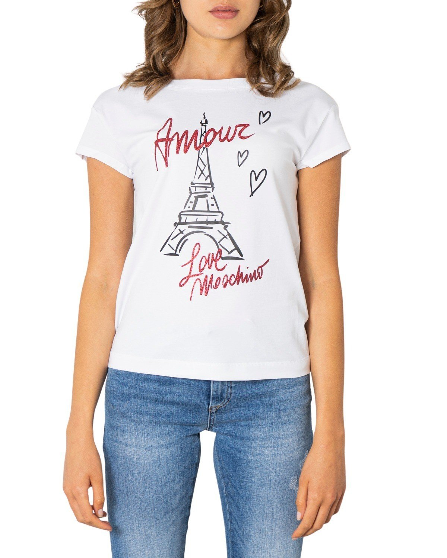 Love Moschino Women's T-Shirt Black 321620 - white 38