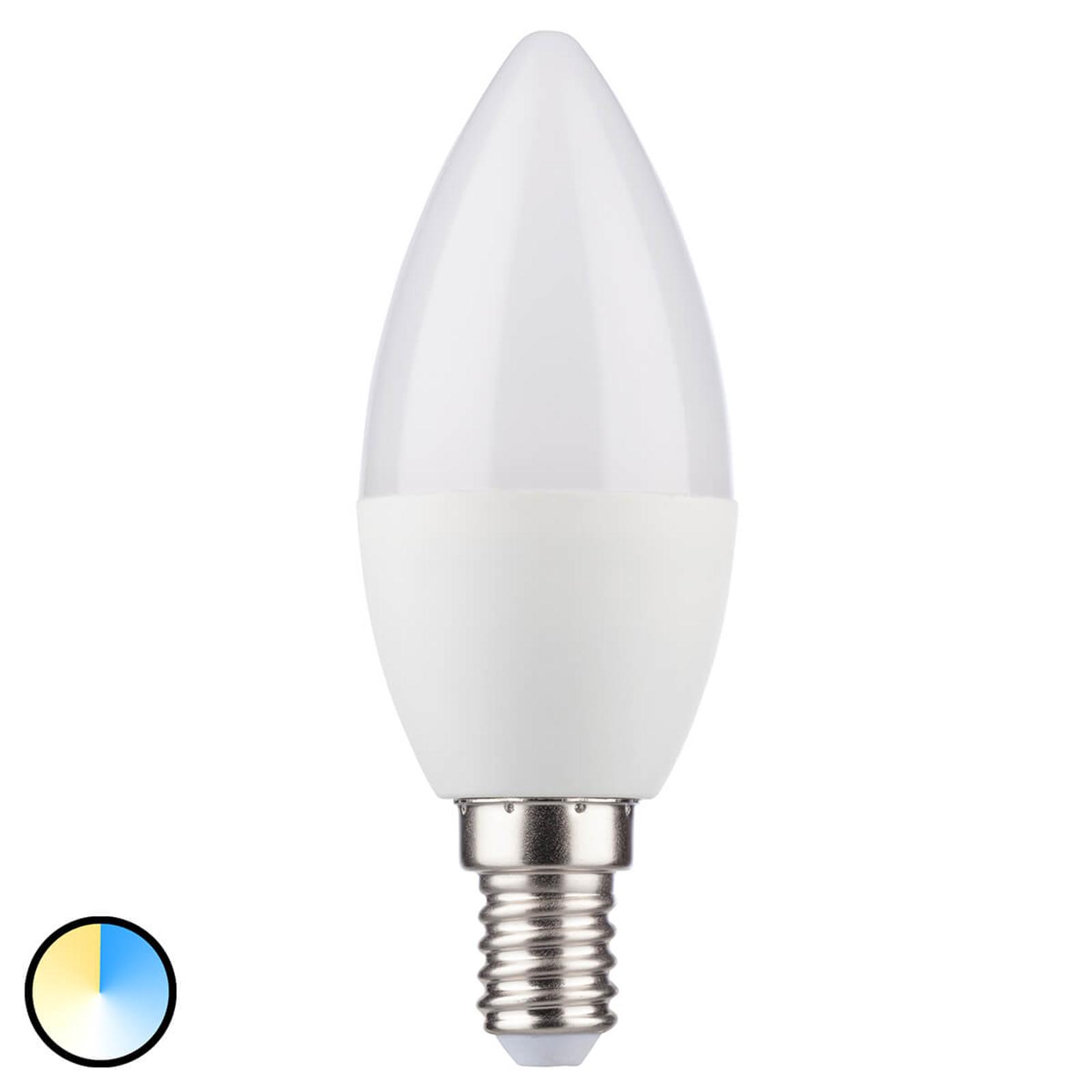 E14 5,5 LED-kynttilälamppu kolmella valovärillä