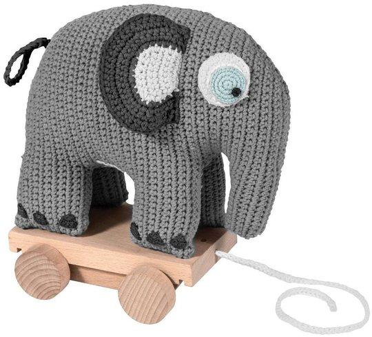 Sebra Heklet Draleke Elefanten Fanto, Klassisk Grå