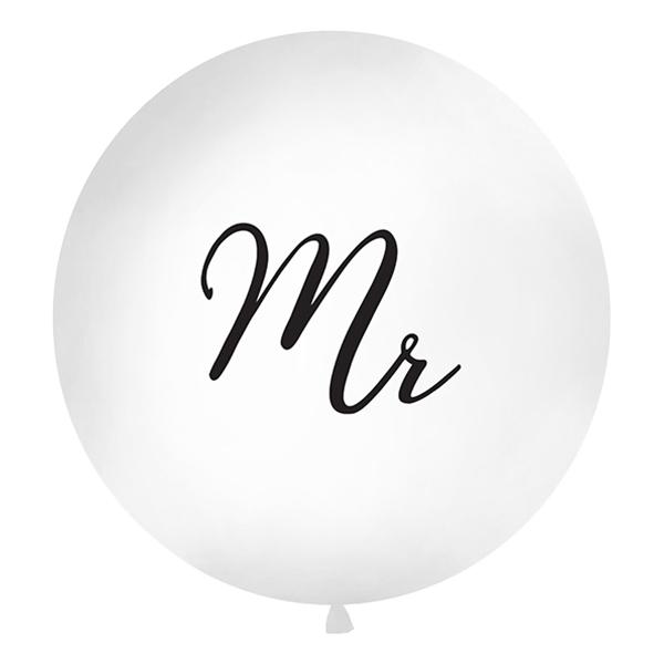 Jätteballong Vit Mr