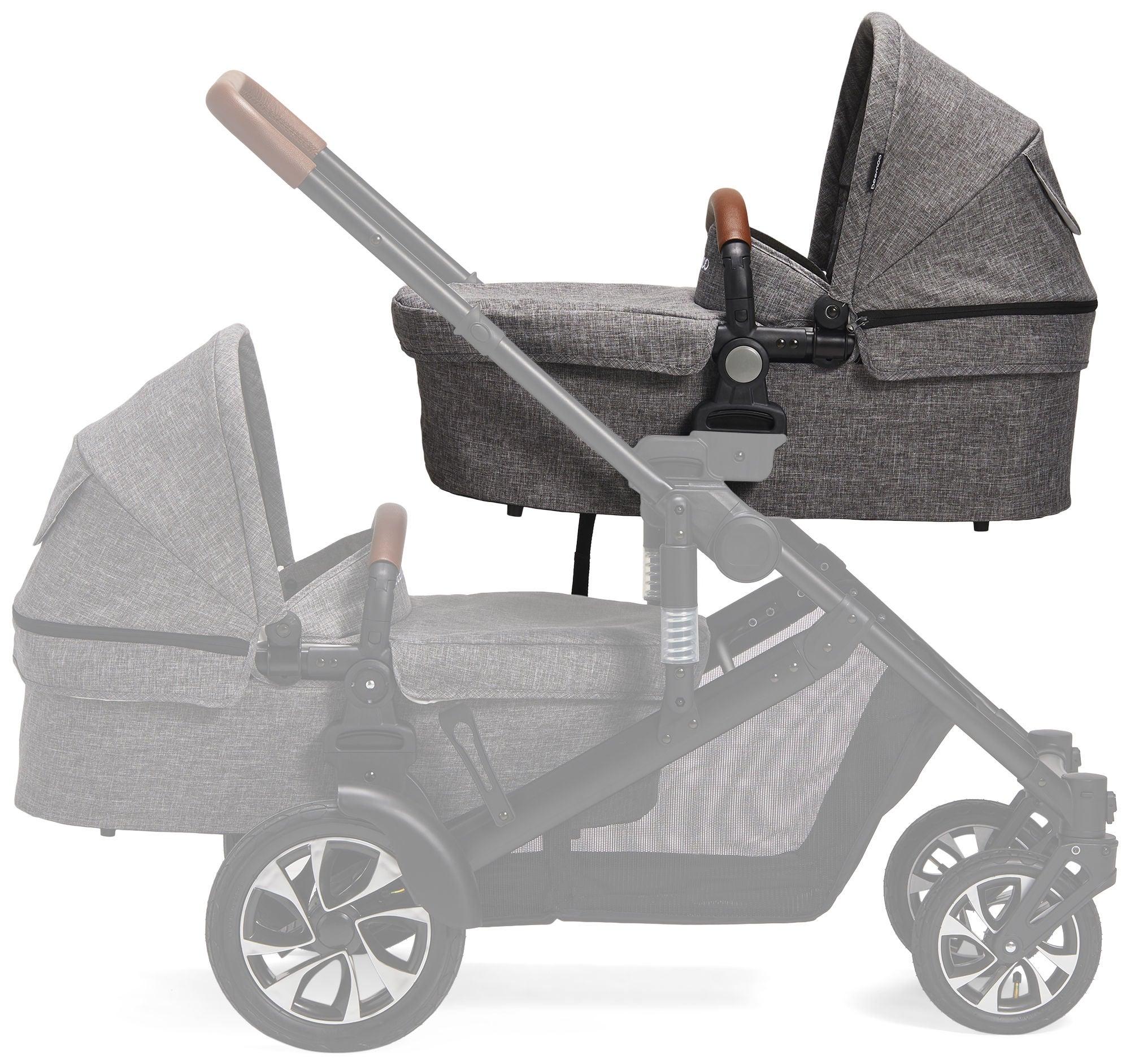 Beemoo Maxi Travel Lux II Liggdel, Black/Grey Melange