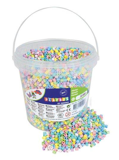 Playbox Rørperler Pastell I Bøtte 10000 Stk