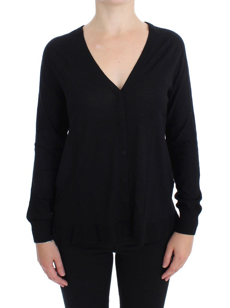 Dolce & Gabbana Women's Wool Button Cardigan Black SIG17327 - IT46 XL