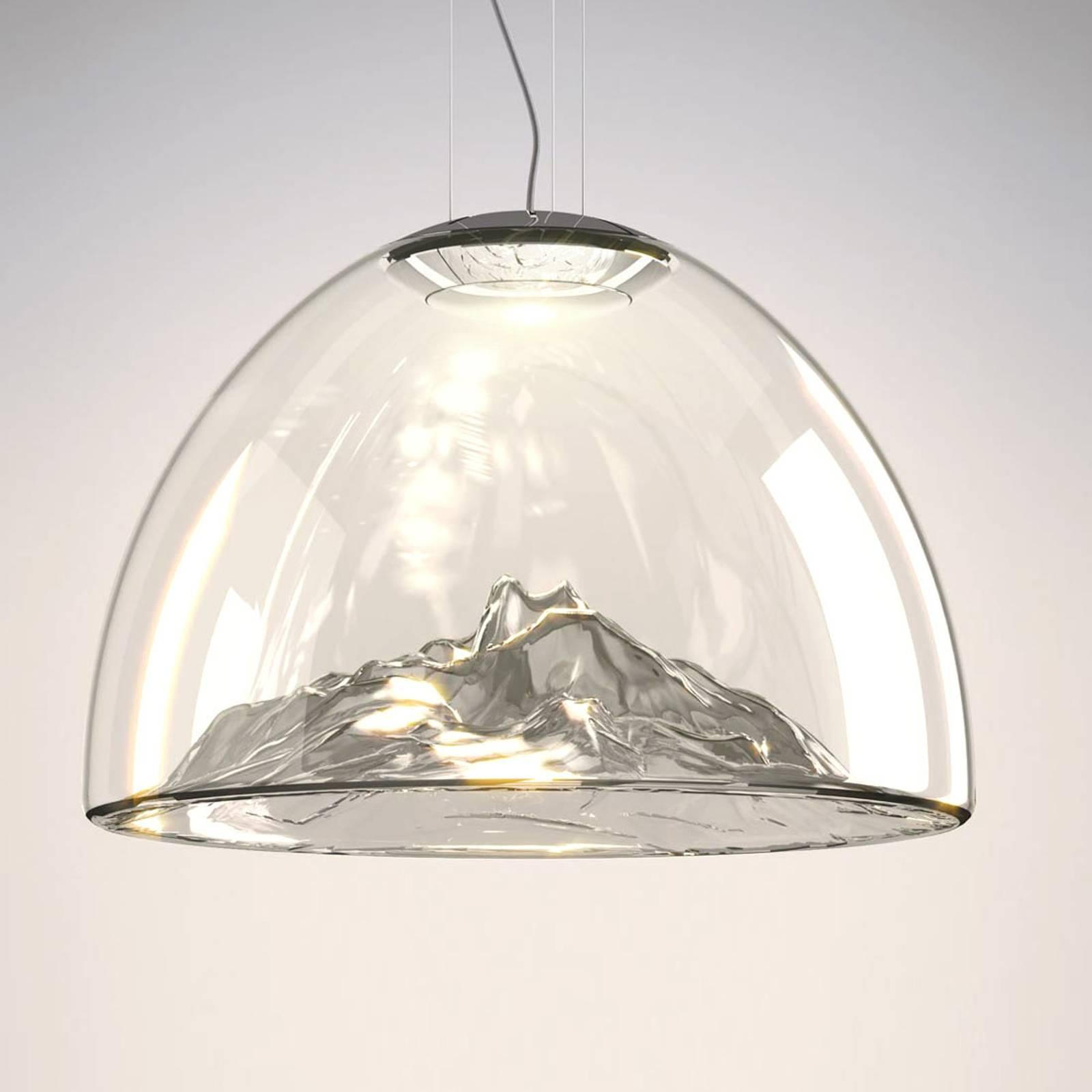 Axolight Mountain View - LED-valaisin harmaa-kromi