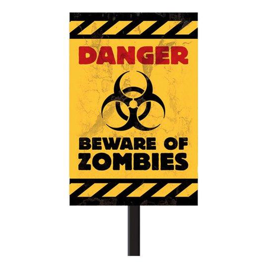 Varning för Zombies Skylt