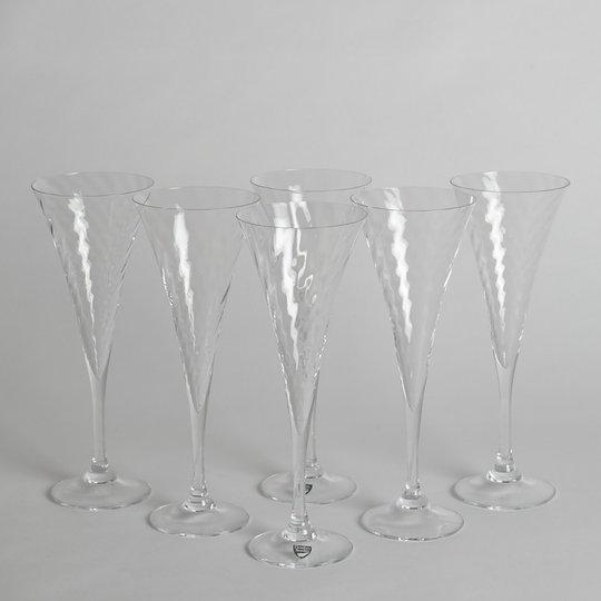 """Orrefors - SÅLD Champagneglas """"Helena"""" 6 st"""