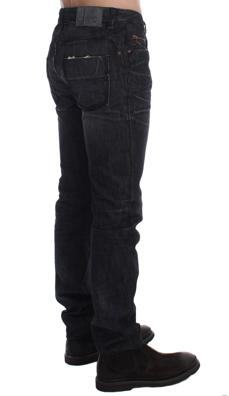 Costume National Men's Slim Fit Cotton Denim Jeans Gray SIG17892 - W34