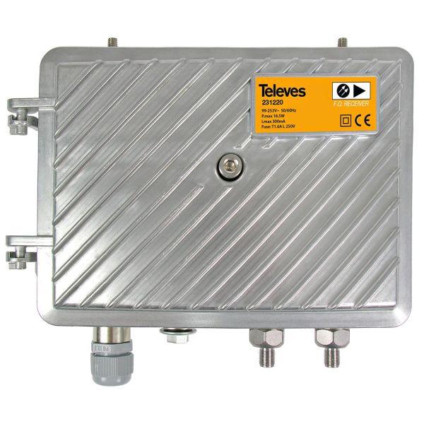 Televes 231220 Vastaanotin ulkokäyttöön CATC + OLC, 1200–1600 nm:lle