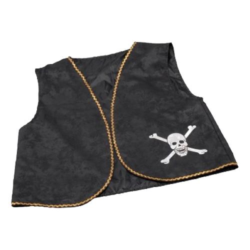 Piratväst Svart - One size