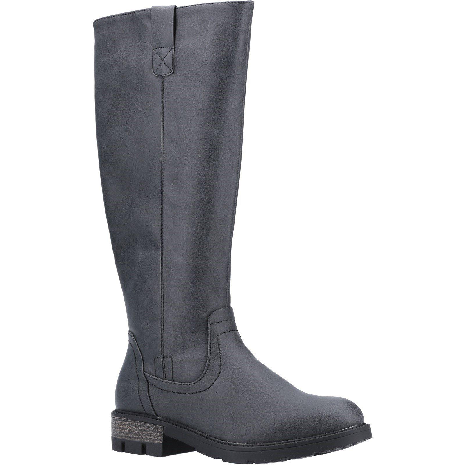 Divaz Women's Quinn Knee High Boot Various Colours 31080 - Black 3