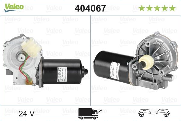 Pyyhkijän moottori VALEO 404067