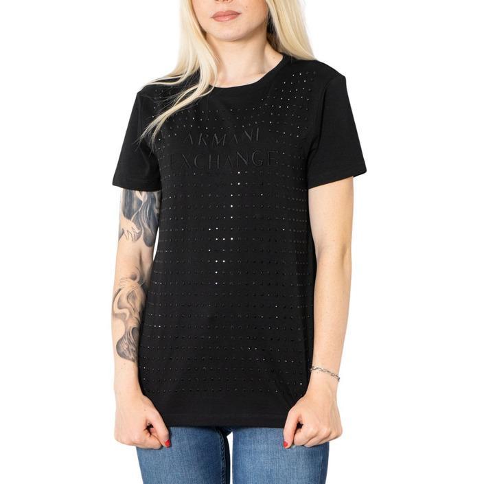 Armani Exchange Women's T-Shirt Black 273205 - black XS