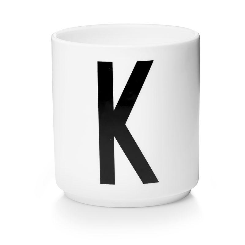 Design Letters - Personal Porcelain Cup K - White