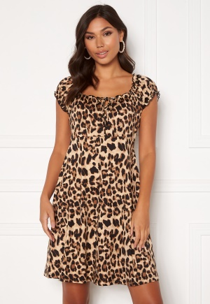 Happy Holly Tessan dress Leopard 52/54