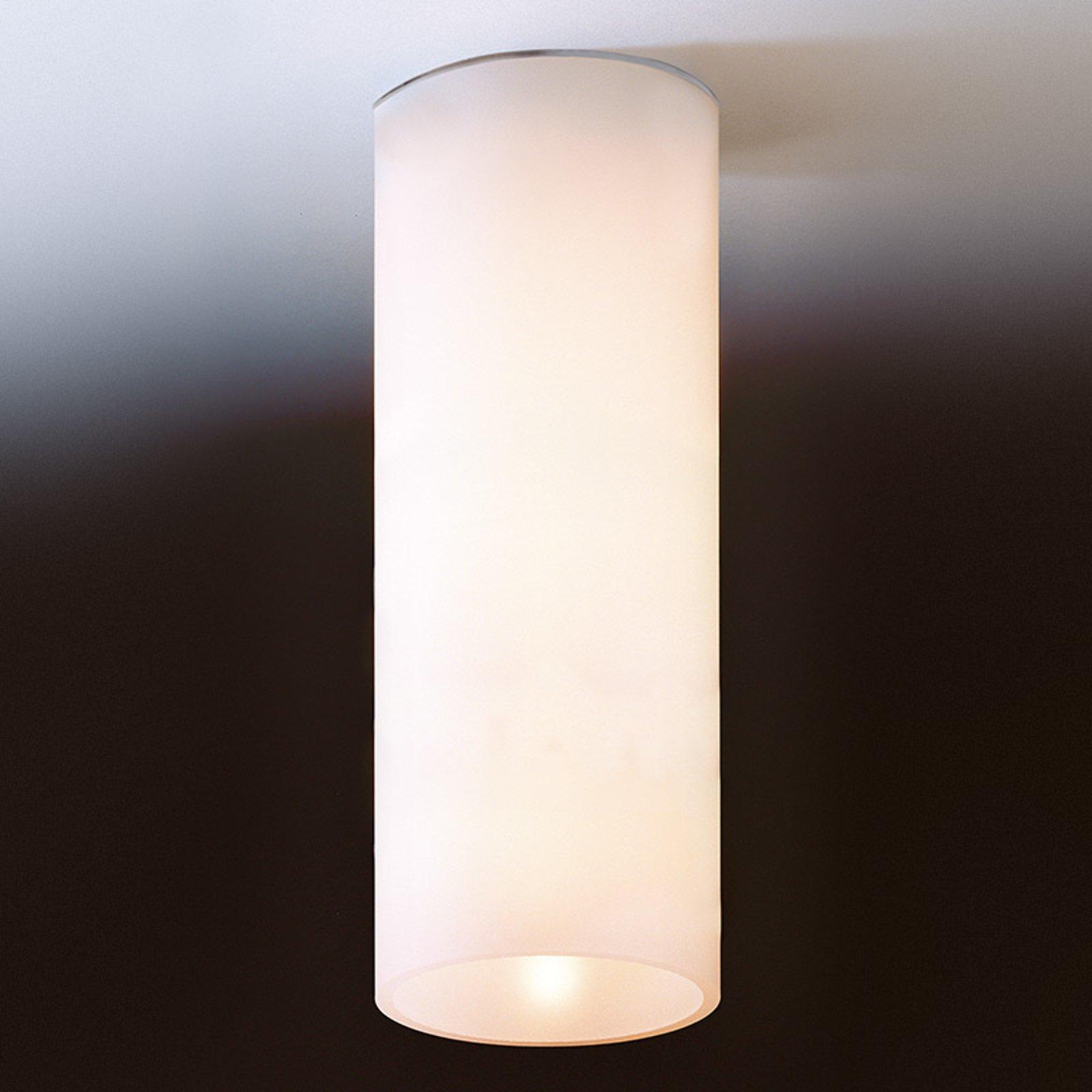 Enkel taklampe DELA av hvitt glass