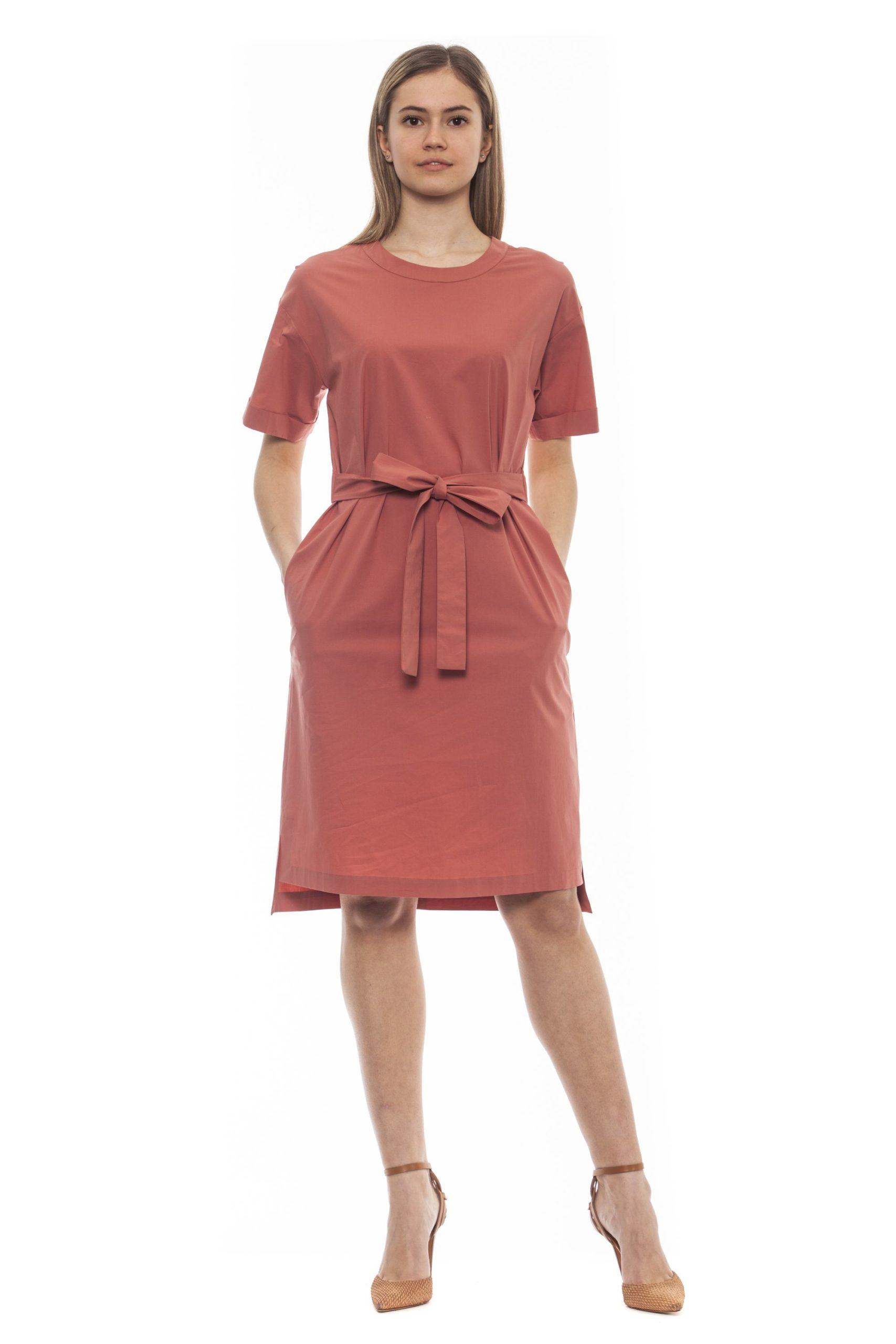 Peserico Women's Marrone Dress Brown PE1381632 - IT42 | S