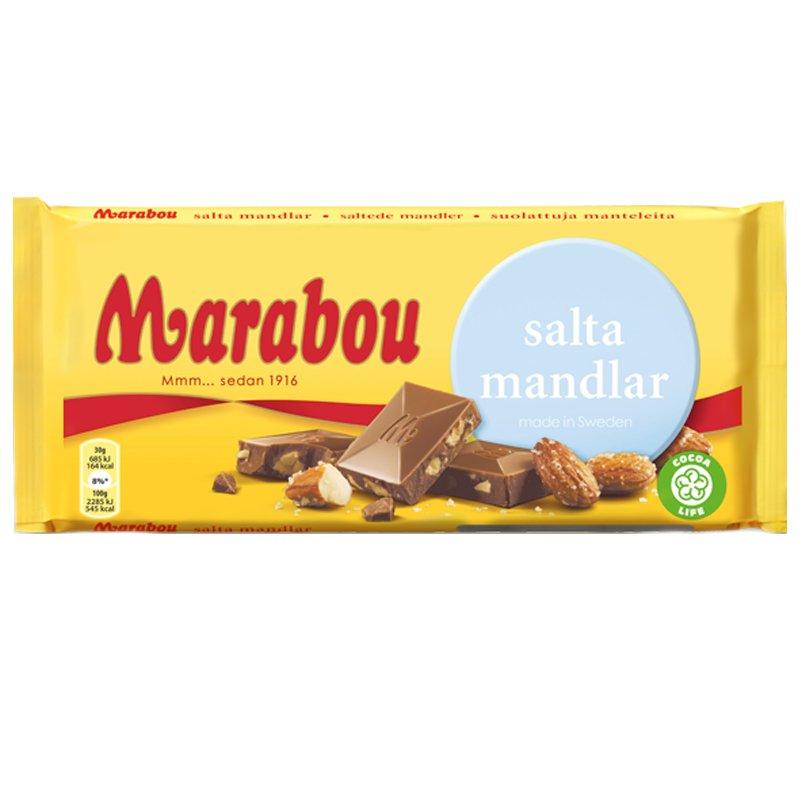 Marabou Salta Mandlar - 32% rabatt