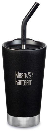 Klean Kanteen Insulated Tumbler med Sugerørlokk 473ml, Shale Black
