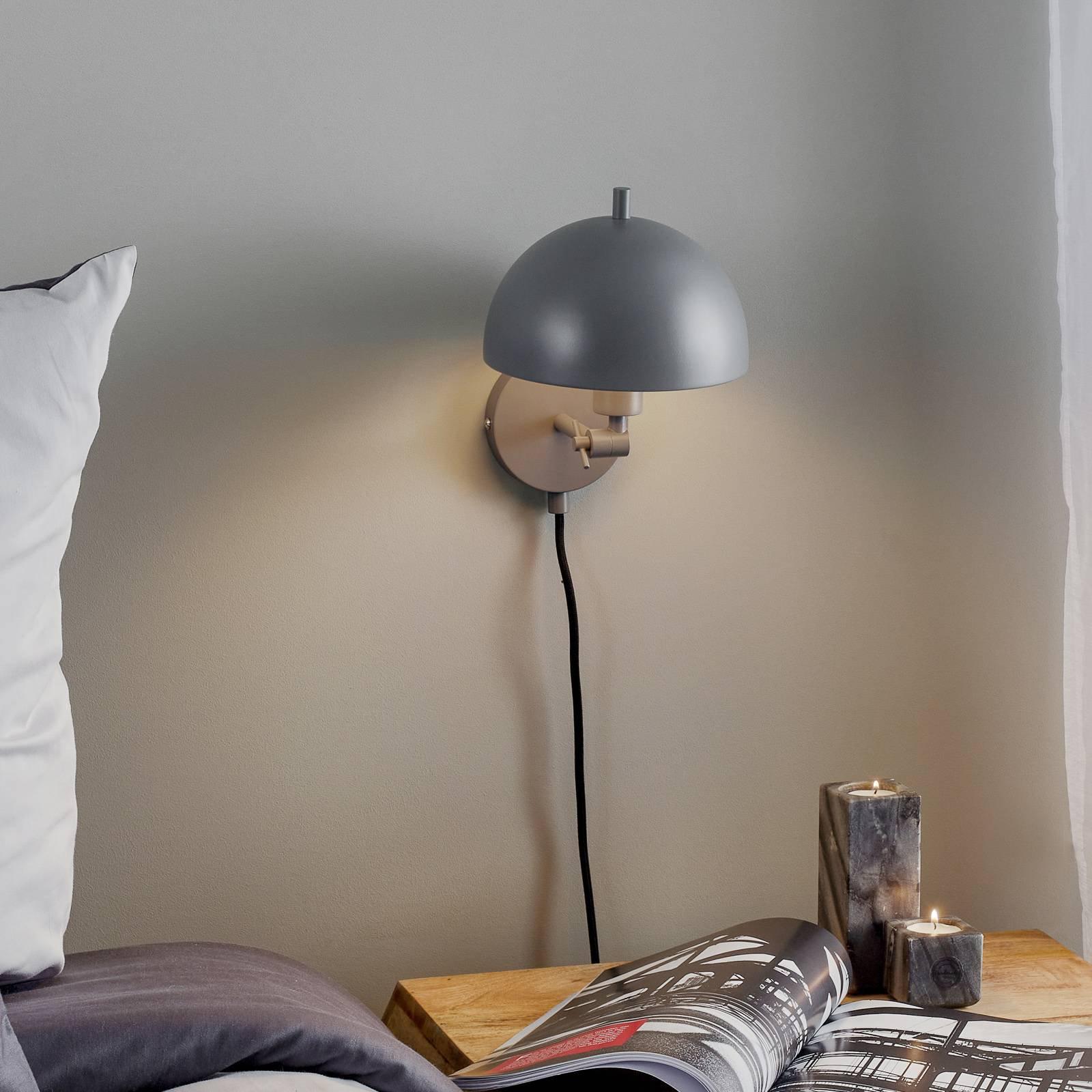 Schöner Wohnen Kia vegglampe, grå, vippbar