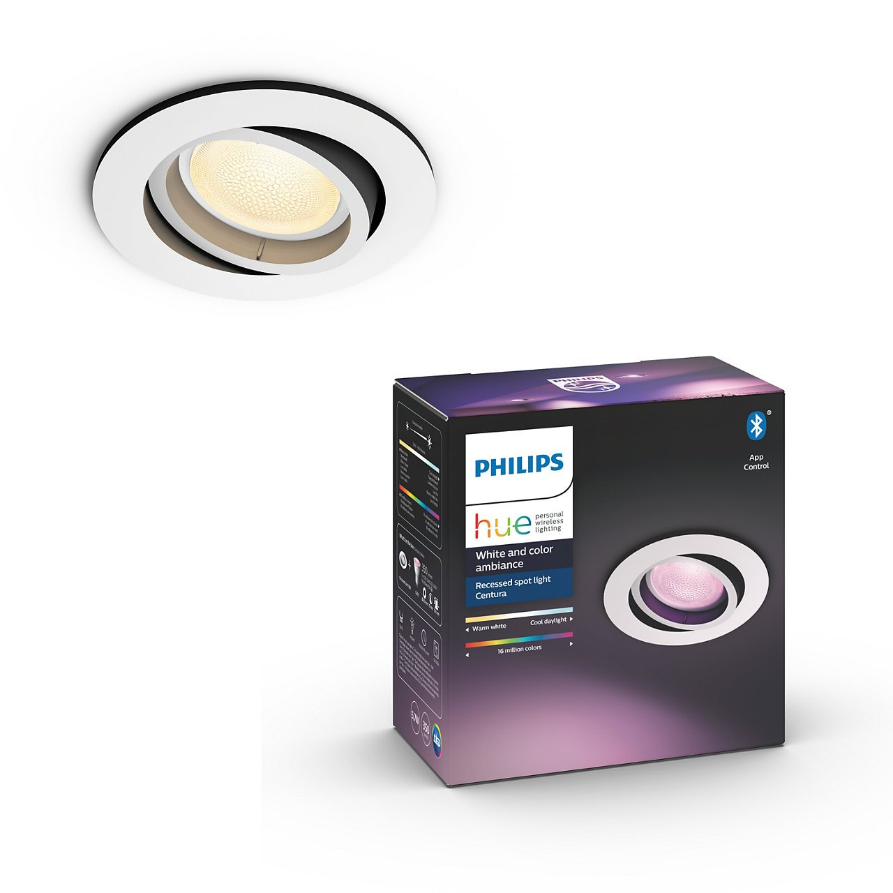 Philips Hue - Centura recessed white - Round - White & Color Ambiance