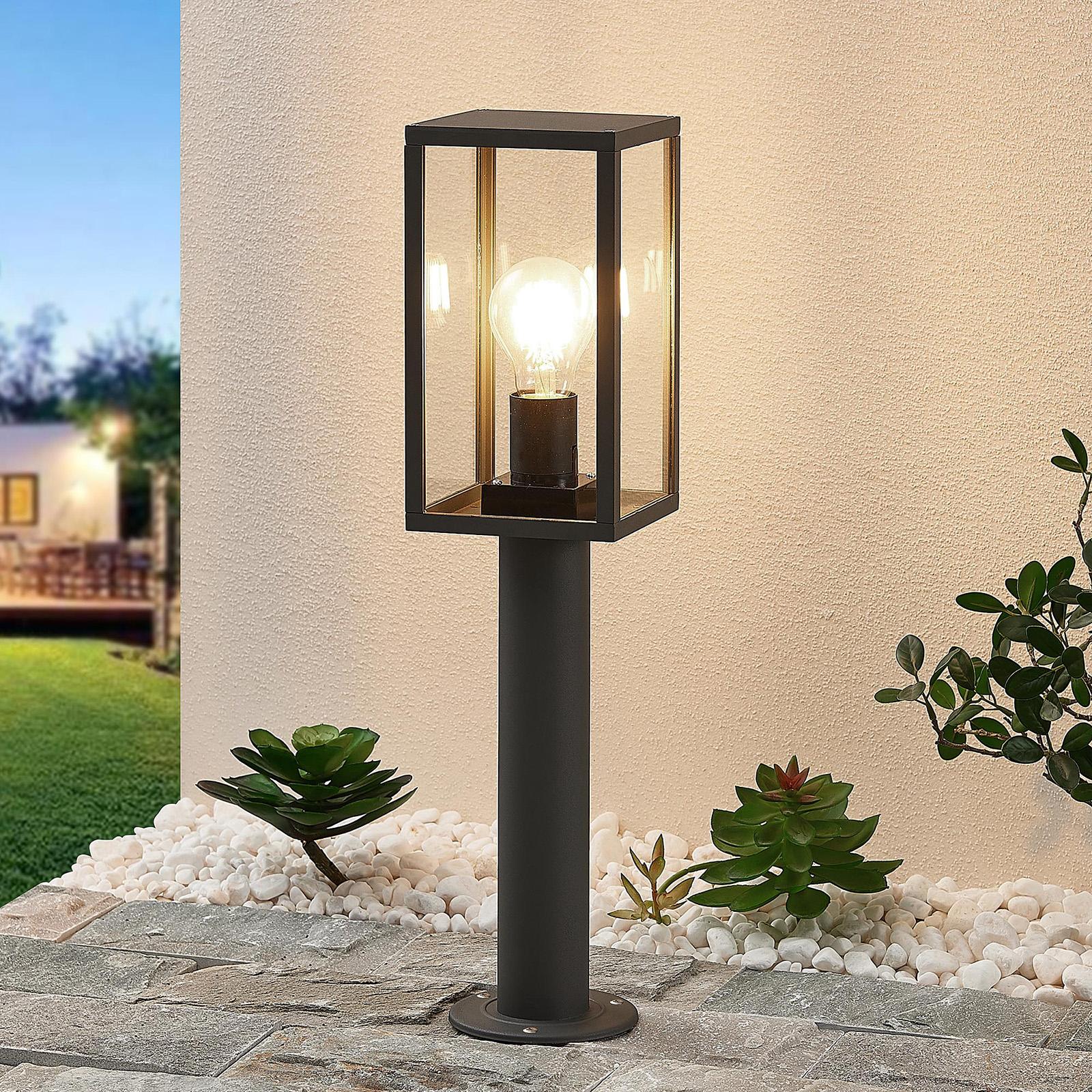 Lindby Filimon -pollarilamppu, tummanharmaa, E27