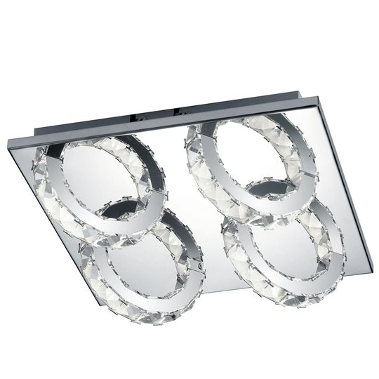 B-Leuchten Cascade LED-kattolamppu 4-lamppuinen