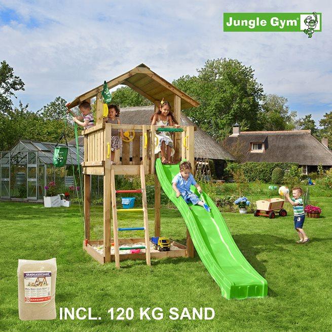 Jungle Gym Chalet lektorn komplett inkl. 120 kg, Klätterställning