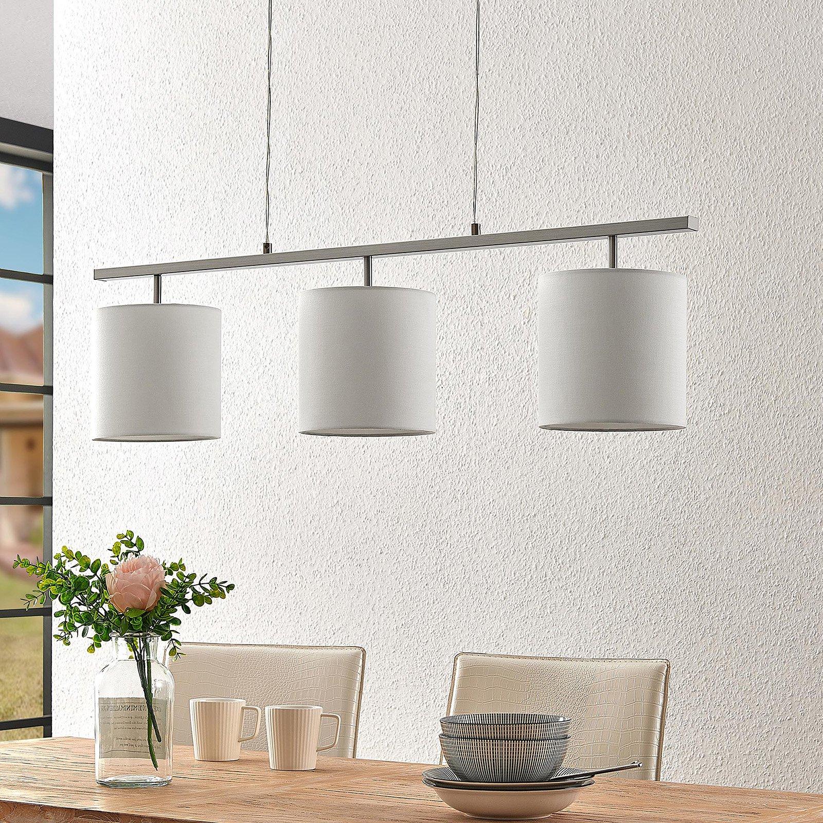 Lindby Zalia tekstilhengelampe, 3 lyskilder