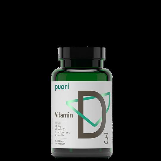 Puori D3 D-vitamiini, 120 caps