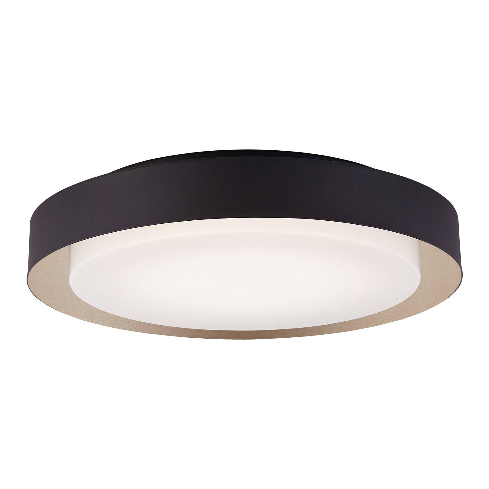 Arcchio Damaria -LED-kattovalaisin, musta-kulta