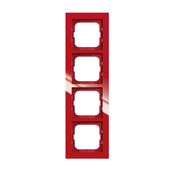 ABB Axcent Yhdistelmäkehys Punainen 4-paikkainen
