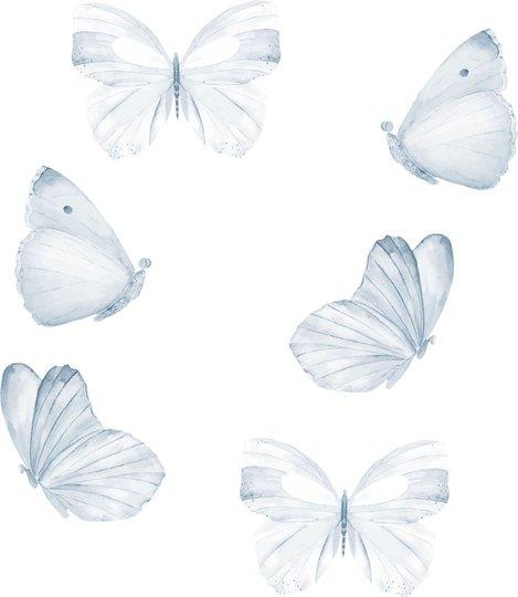That's Mine Wallsticker Butterfly 6-pack, Blue