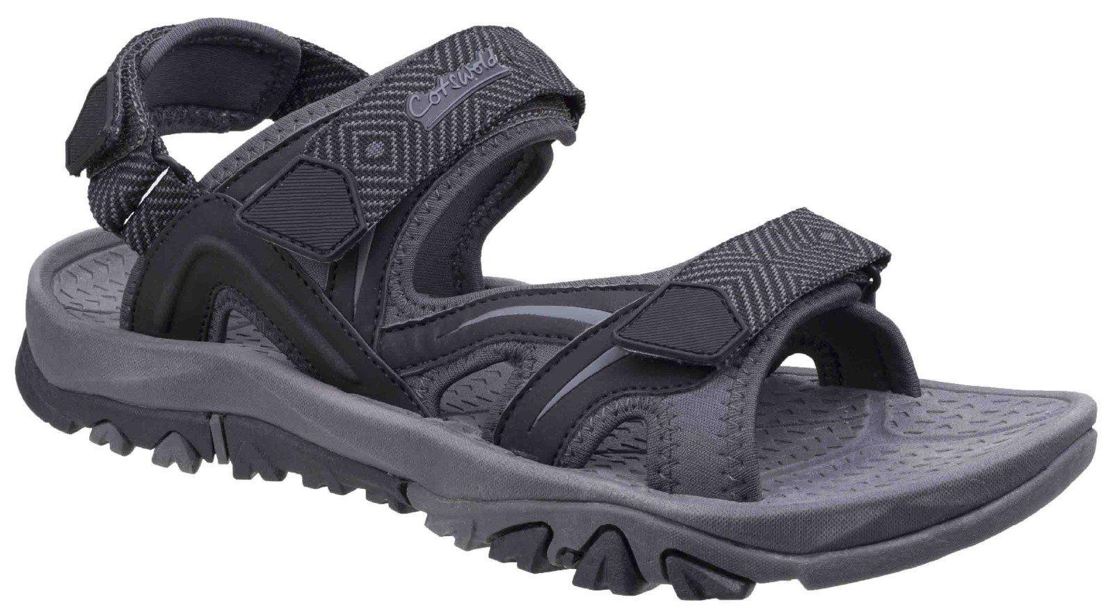 Cotswold Men's Cutsdean Sandal Various Colours 26276 - Black/Grey 7