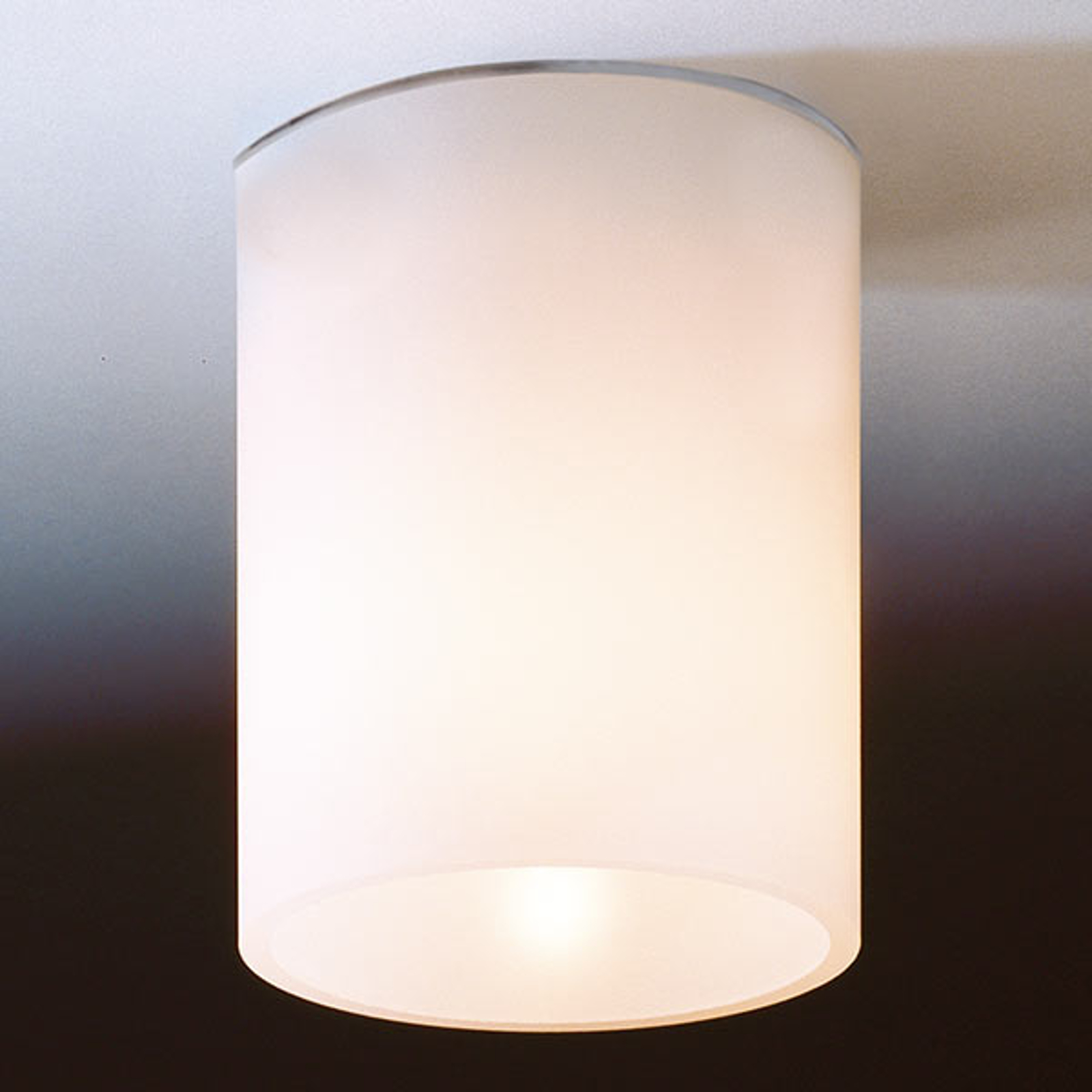 Valkoinen lasinen DELA SHORT -kattovalaisin