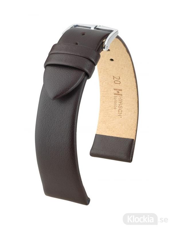 Klockarmband Hirsch Toronto 12mm Large Brun/Silver 03702010-2-12