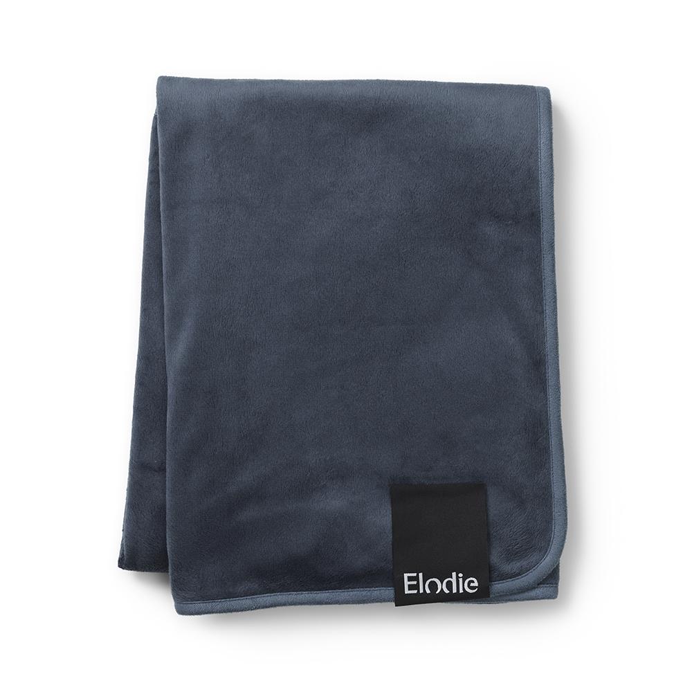 Pearl Velvet Blanket - Juniper Blue