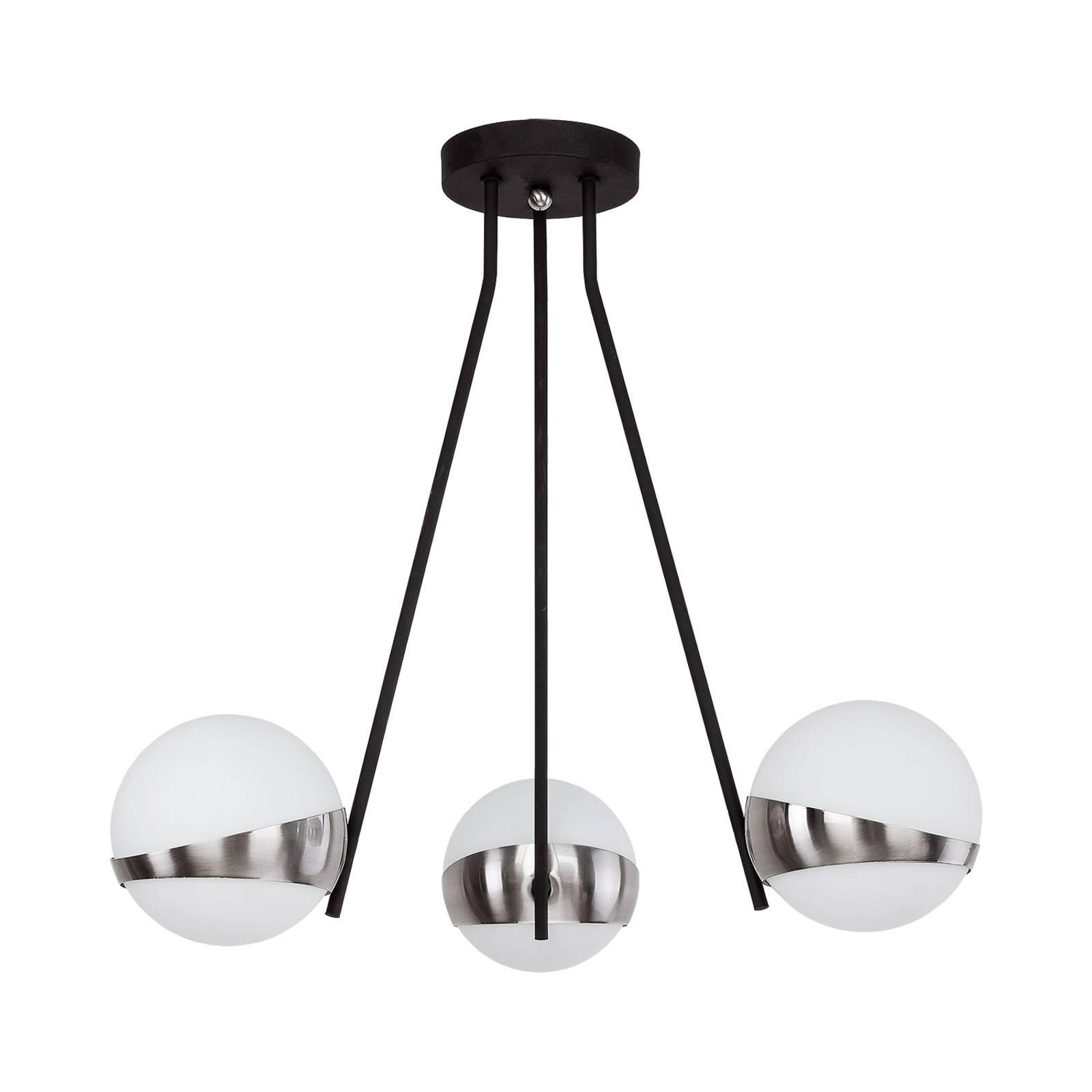 Riippuvalo Parcel, 3-lamppuinen, valkoinen/hopea