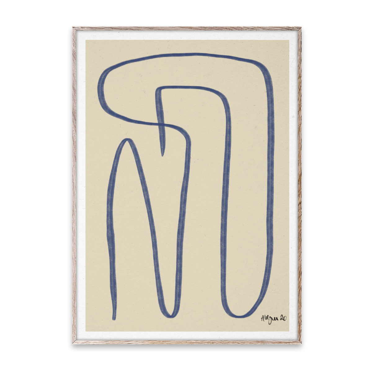Paper Collective Poster Different Ways - Blue 30x40 cm