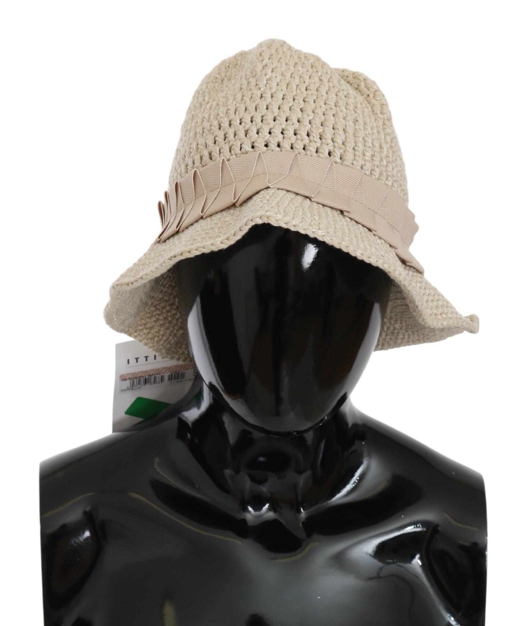 Ermanno Scervino Women's Woven Bucket Hat Beige HAT20126