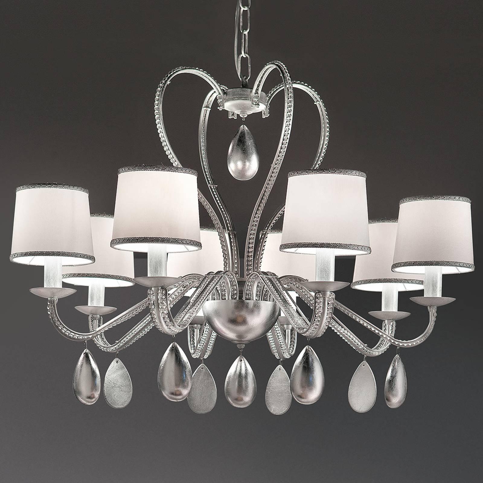 Anouk lysekrone 8 lyskilder sølv