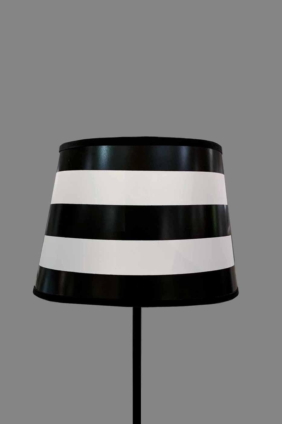 Lampskärm Jack oval 25cm randig